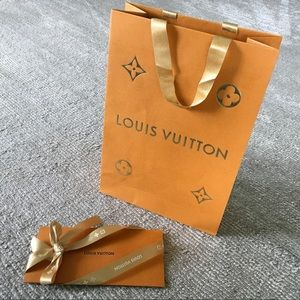 Louis Vuitton Shopping Bag, Receipt Holder, Ribbon